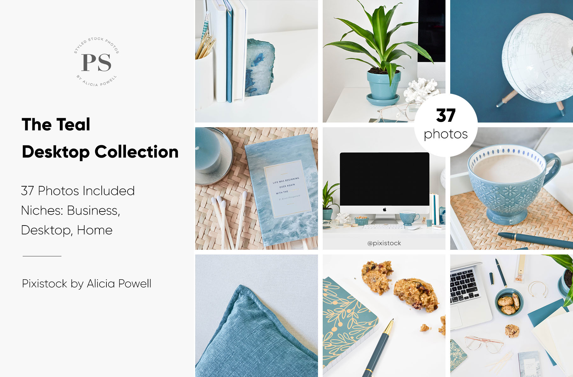 Teal Desktop Stock Photo Collection